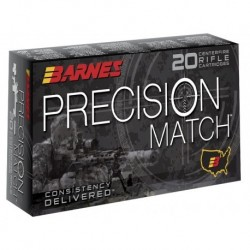 Munición metálica BARNES PRECISION MATCH - 6.5 Creedmoor - 140 grains